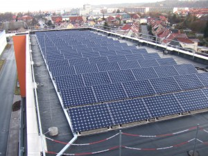 IFA Ind. park Nordhausen, Errichtung Solaranlage Halle 340